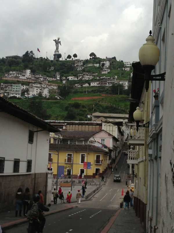 El Panecillo and the Virgin of Quito