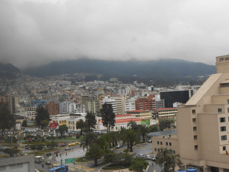 Another view from our room in Quito