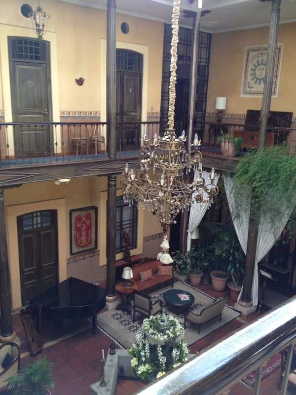 Interior Courtyard of the Mansion Alcazar